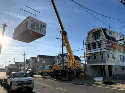 Modular Home Setting